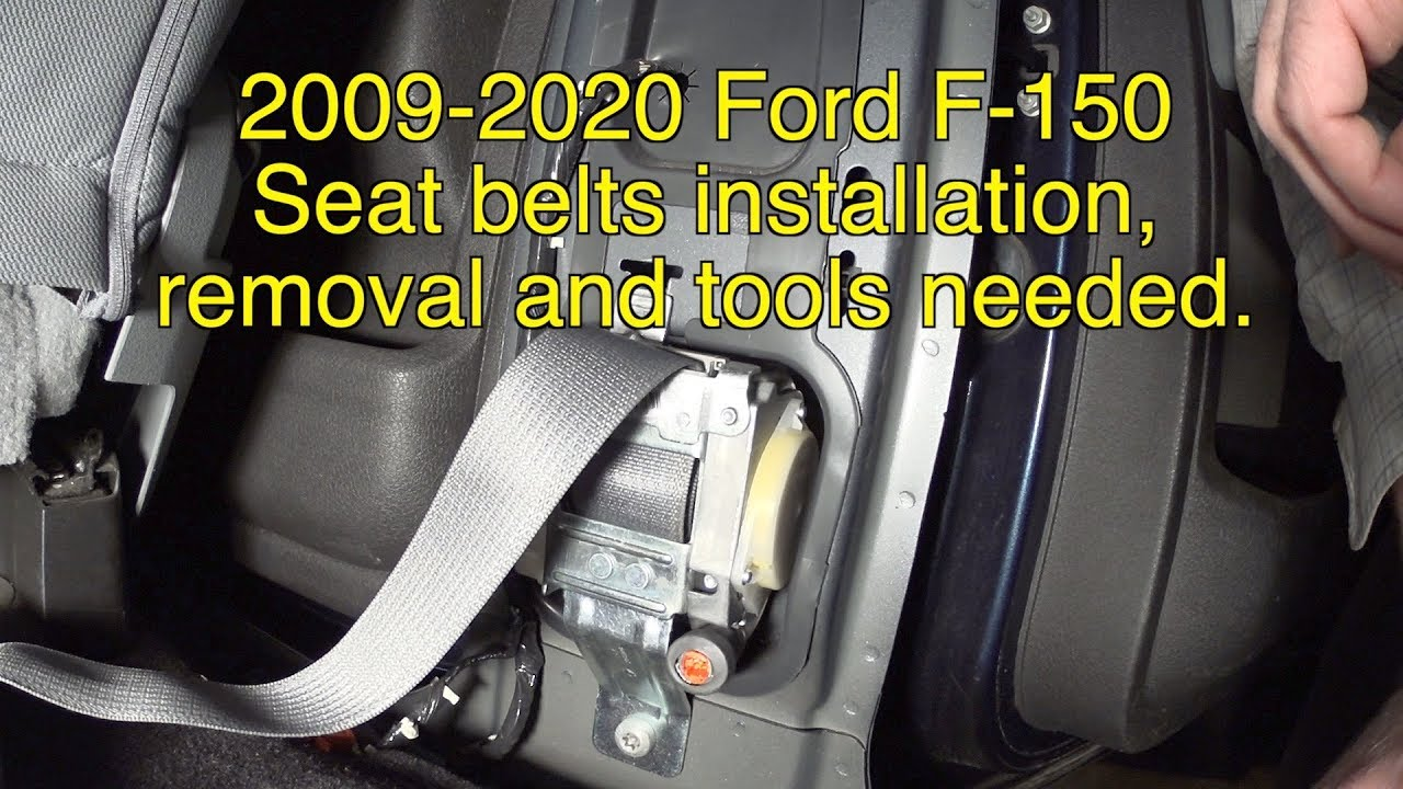ford fusion seat belt wiring diagram 2009 2020 ford f 150 seat belts removal and installation  seat  2009 2020 ford f 150 seat belts removal