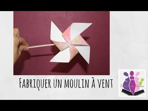 diy fabriquer un moulin vent en papier paper windmill activit manuelle avec les. Black Bedroom Furniture Sets. Home Design Ideas
