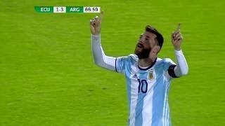 Le Triplé de MESSI vs L'Equateur - Qualification Coupe du Monde 2018