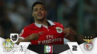 ¡Mexicano enrachado! Raúl Jiménez marcó doblete y Benfica sigue de líder