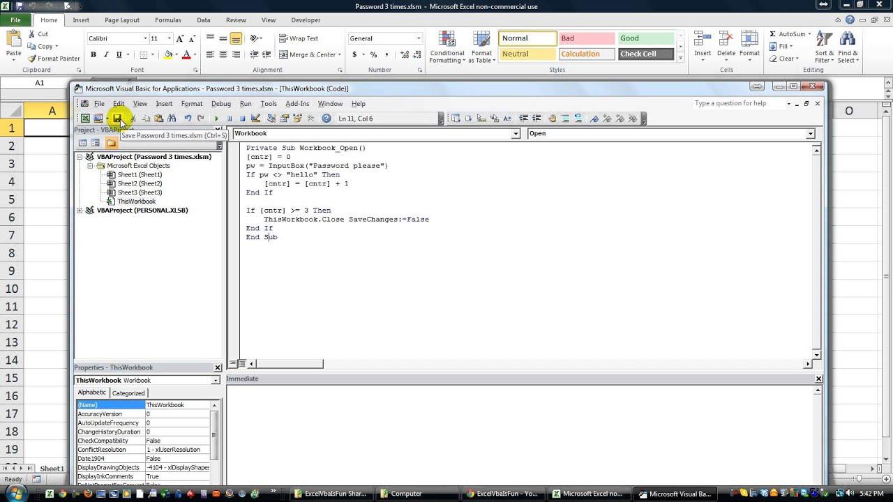 Excel vba tips n tricks 45 close workbook if password fails 3 times excel vba tips n tricks 45 close workbook if password fails 3 times ibookread Download