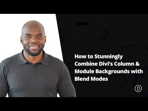 How to Stunningly Combine Divi's Column & Module Backgrounds with Blend Modes