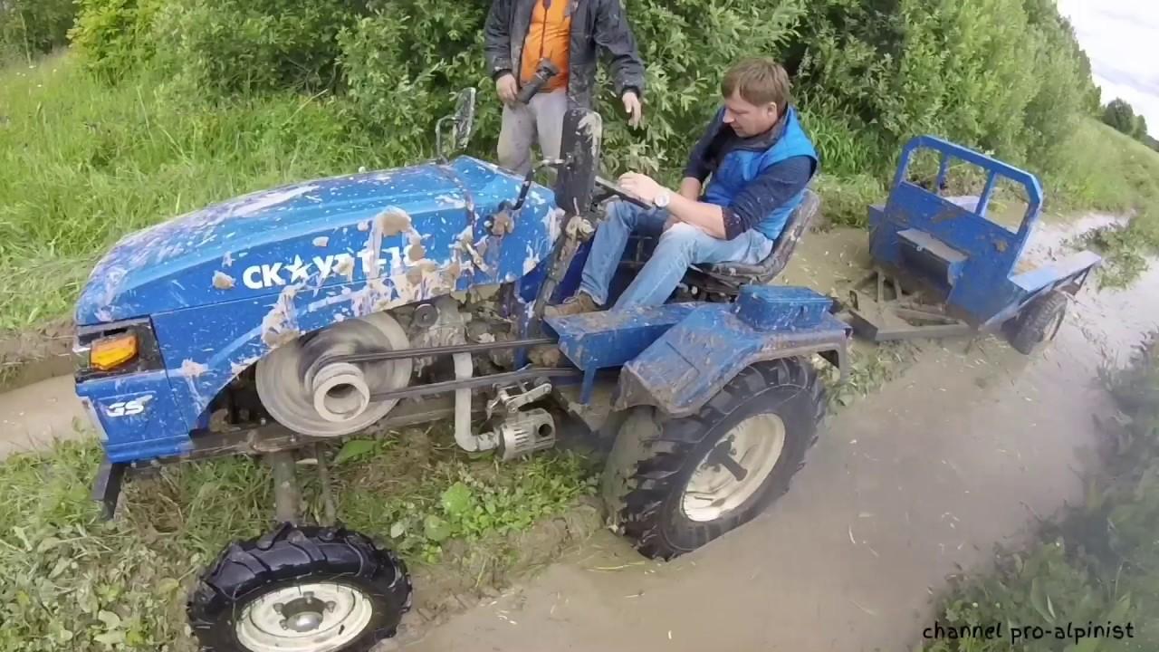 На Китайском тракторе Скаут Т-18 по бездорожью