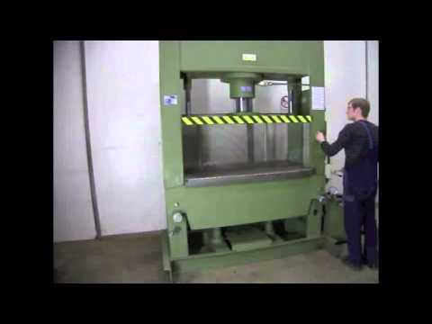 presse hydraulique omci 200 tonnes youtube