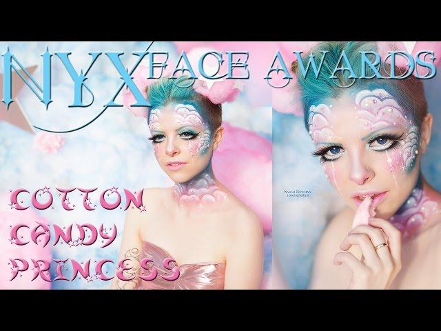 Cotton Candy Princess Makeup Tutorial | NYX Face Awards Top 20 Anime Challenge 2016