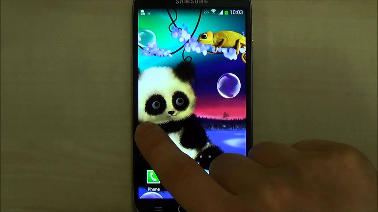 animated panda live wallpaper for android