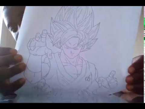 Coloriage Dragon Ball Z Partie 1 2 Youtube