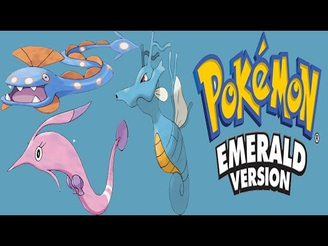 Pokemon Emerald - Seadra And Clamperl Evolves Into Kingdra Huntail And Gorebyss