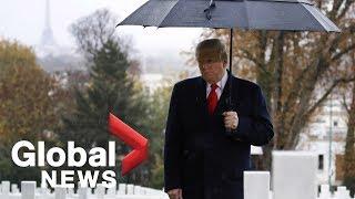 U.S. President Trump visits Suresnes Cemetery