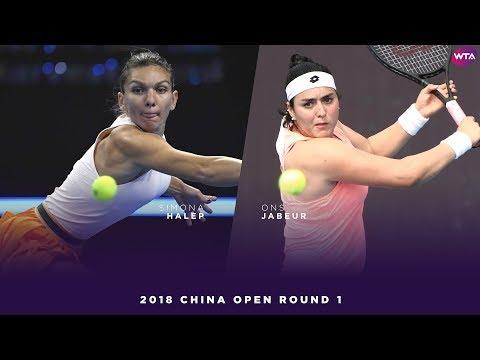Simona Halep vs. Ons Jabeur | 2018 China Open First Round | WTA Highlights 中国网球公开赛