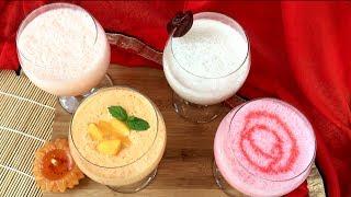 ইফতারের জন্য সহজ ও ঝটপট ৪ ধরনের লাচ্ছি || Bangladeshi Lassi Recipe || Lassi || Yogurt Drinks