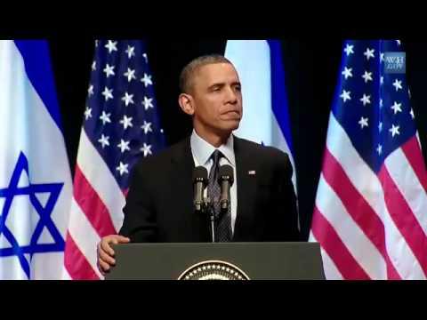 Brilliant Obama Israel Palestine Peace Speech  best 8 mins