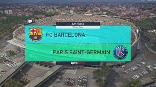 Baixar PES 2018 | Gameplay | Barcelona vs PSG (Multiplayer)