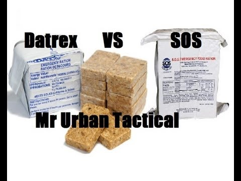 Sos vs datrex emergency survival rations review youtube for Food bar emergency