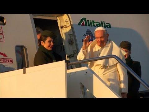 El papa Francisco comenzó su viaje a Chile y Perú