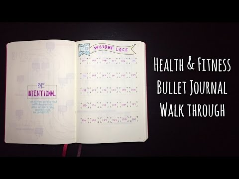 Health and Fitness Bullet Journal walk thru