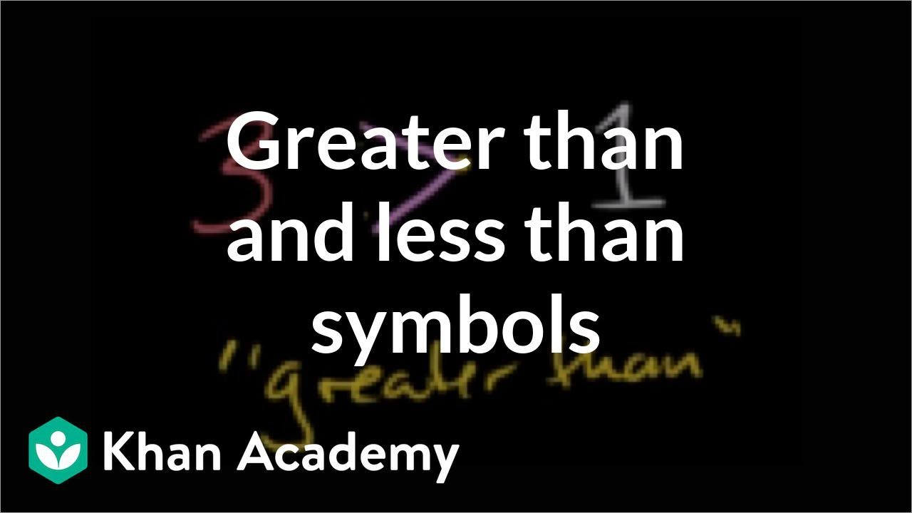 Greater than and less than symbols applying mathematical reasoning greater than and less than symbols applying mathematical reasoning pre algebra khan academy youtube buycottarizona Gallery
