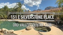 Home For Sale in Oro Valley Country Club AZ 151 E Silverstone Place