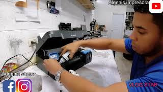 How to get the air out canon mg 2100.3100 ink system