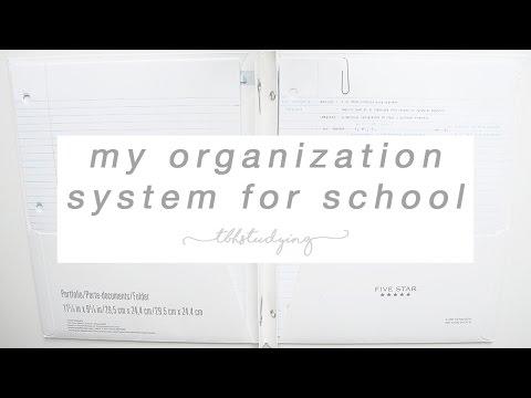 my organization system for school