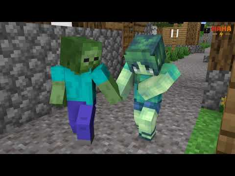 Monster School : Zombie Love Story - Minecraft Animation