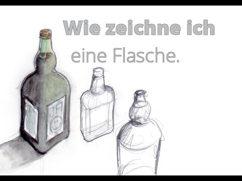 wie zeichne ich eine flasche youtube. Black Bedroom Furniture Sets. Home Design Ideas
