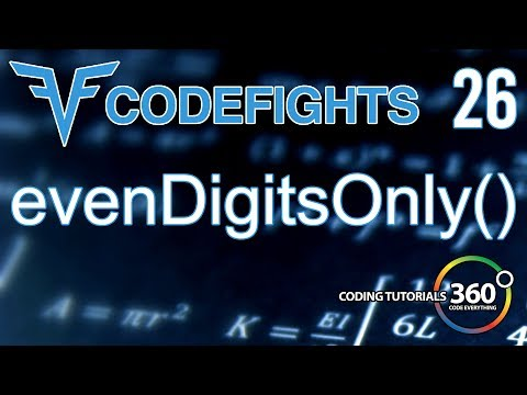 evenDigitsOnly | CodeFights Intro Algorithm JavaScript Solution and Breakdown