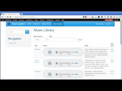Drupal jPlayer - 5 - Create Views Listing - PART 2
