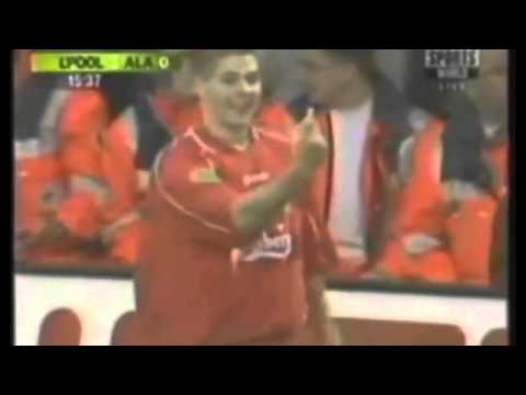 Steven Gerrard goal vs Alaves (2001 UEFA Cup Final)