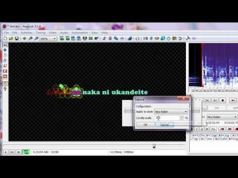 Aegisub karaoke effect - Sakura (Automation Lua script)