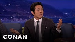Steven Yeun On His Twitter Profile Pic & His Halloween Trauma - CONAN on TBS