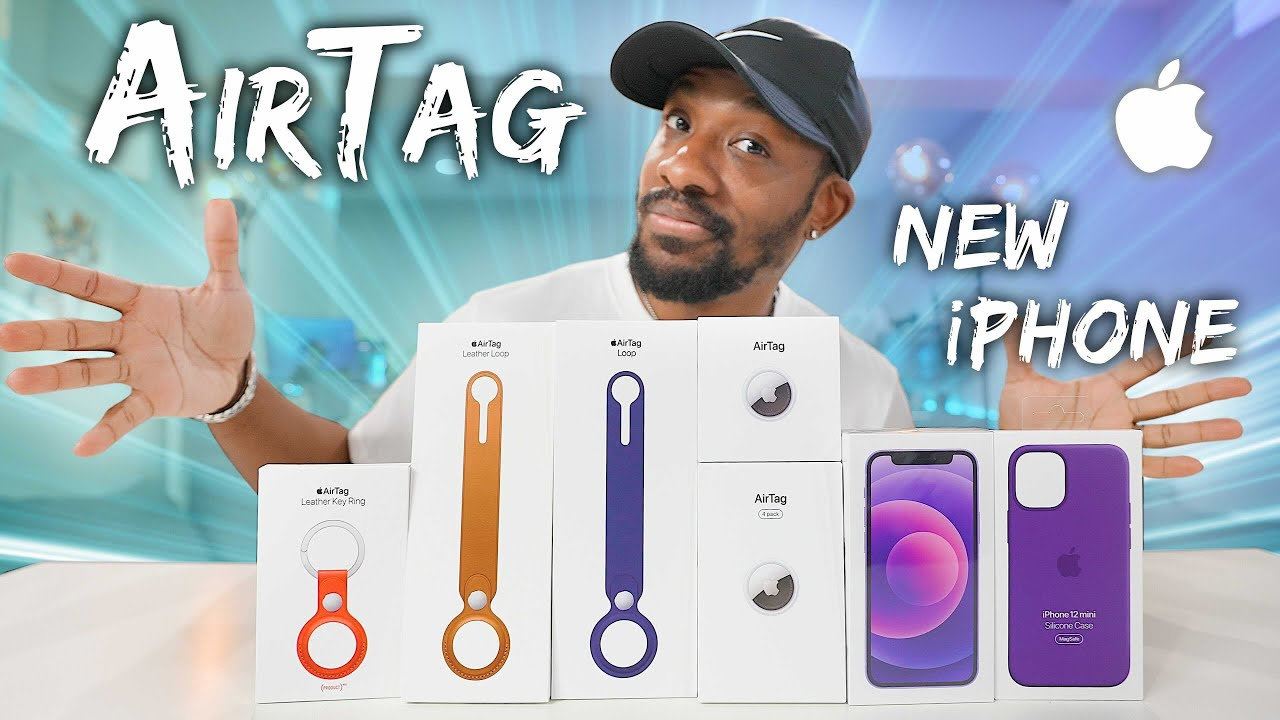 NEW Apple AirTag + Purple iPhone Unboxing & First Look!