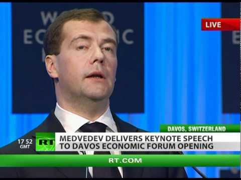 Medvedev opens Davos with keynote speech in wake of Moscow terror attack