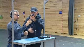 Урок в тире с инструктором по стрельбе.