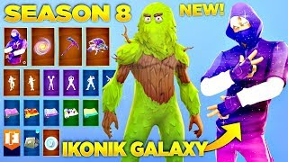 Fortnite Saison 8 Battle Pass SKINS , EMOTES - LEAKS COSMETICS ! Poséidon - France Psyché Itz