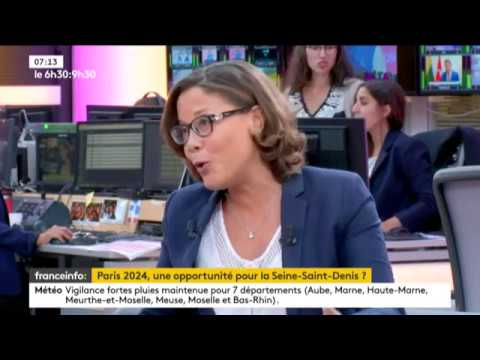 Interview sur les enjeux de Paris 2024 en Seine-Saint-Denis à France Info