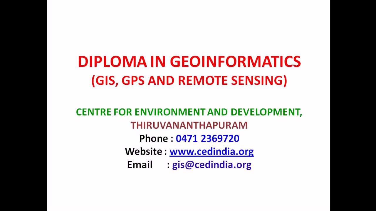 Gis Courses In Kerala Gis In Ced Thiruvananthapuram Youtube