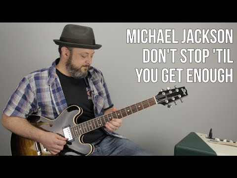 Michael Jackson - Don't Stop 'Til You Get Enough - How to Play on Guitar, Lesson