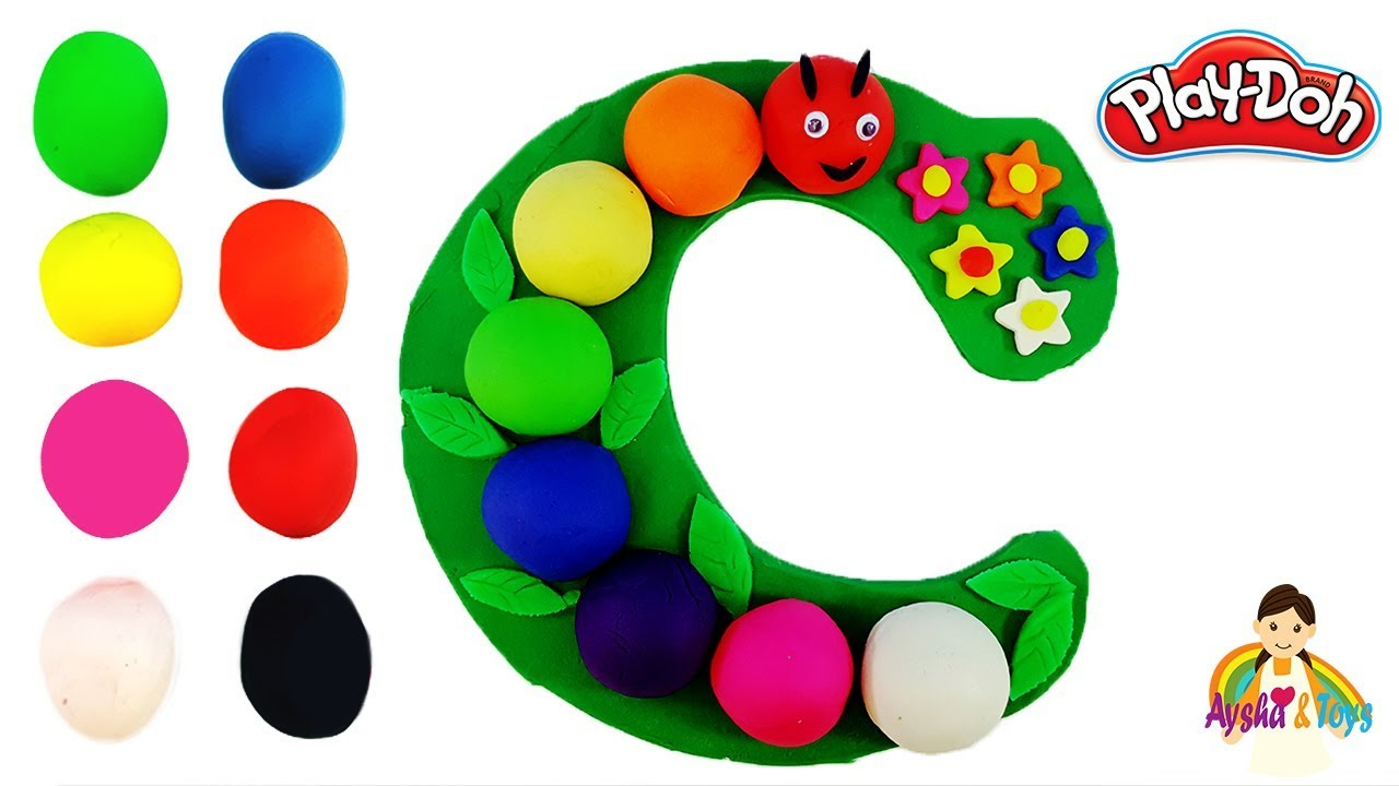 The Letter C Learning ABC with play doh Learn Colors & alphabet ...