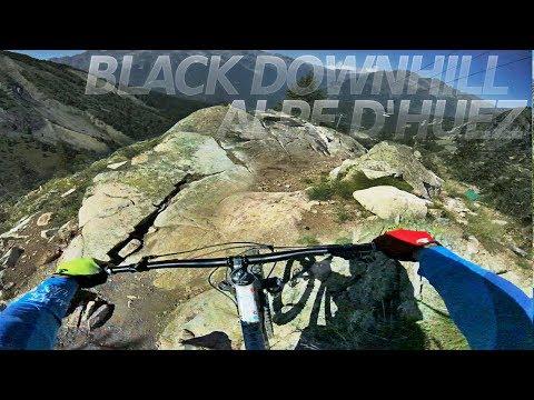 "A PROPER DOWNHILL TRACK! black run ""Poutran"" Alpe d'Huez -subtitled-"