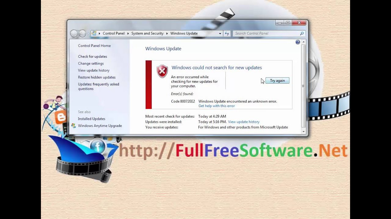 How to fix windows update error code 80072EE2 (Works 100%)