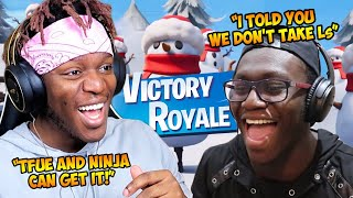 KSI PLAYS DUOS WITH DEJI AND GET HIS FIRST WIN | (FORTNITE) EPIC & FUNNY MOMENTS! - KSI's POV