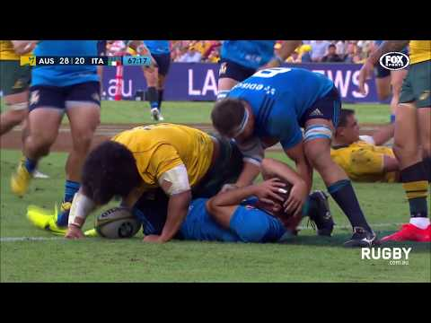 Wallabies defeat Italy in Brisbane