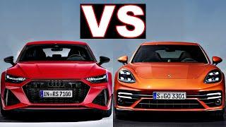 Audi RS7 Sportback vs Porsche Panamera 4 E Hybrid (2021) Excellent sport cars! panamera, rs7. Review