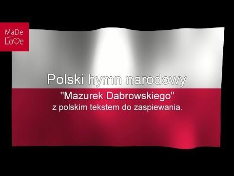 """Die Polnische Nationalhymne """"Mazurek Dąbrowskiego"""" Mit Polnischen Text Zum Mitsingen. PL"""