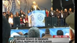Visión Siete: CGT dividida: Moyano renovó su mandato con el respaldo de sus aliados