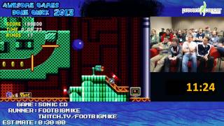 Sonic Cd - Speed Run In 27:07 By Footbigmike  Awesome Games Done Quick 2013  Xbox 360
