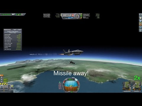 Intercepting satellite with a missile fired from a jet! - Kerbal Space Program |
