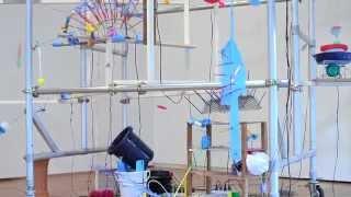"""platonic machines"" 2014 Installation Motors, Daily necessities, In..."