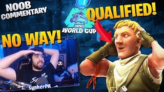 This NOOB Qualified For The World Cup!? - Noob Commentary (Fortnite Battle Royale)